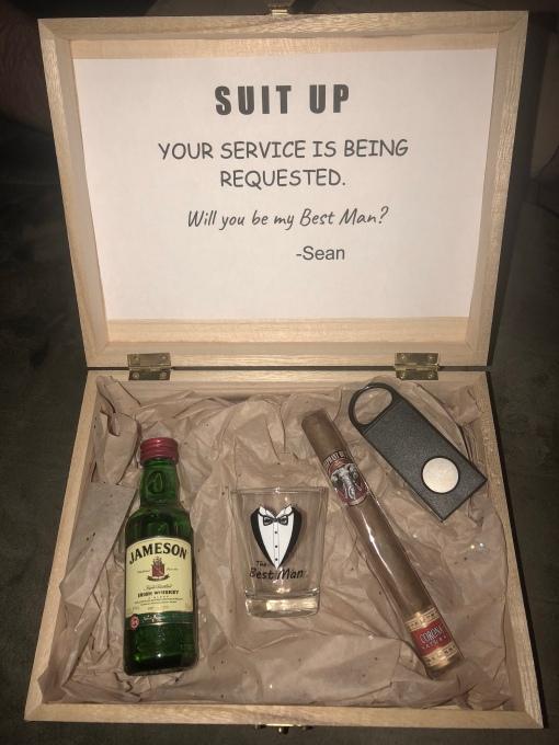 Wedding Wednesday 5 Groomsmen Proposal Boxes Beth S Not So