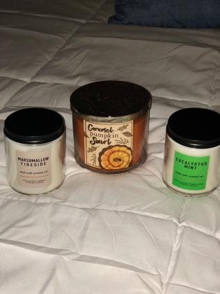 Marshmallow Fireside, Carmel Pumpkin Swirl, Eucalyptus Mint